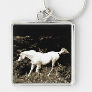 Arabian Mare at Liberty Gifts & i-phone cases Silver-Colored Square Key Ring