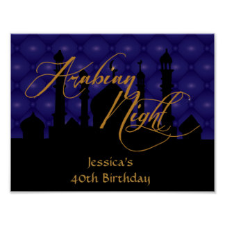 Arabian Night, 40th Birthday Party Poster