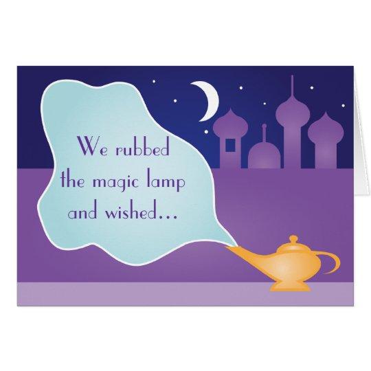 Arabian Night Magic Lamp Get Well Soon Wish Card