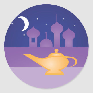 Arabian Night Magic Lamp Stickers