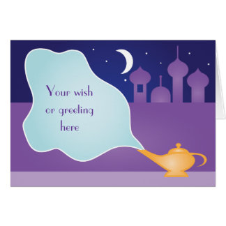Arabian Night Magic Lamp Wish Greeting Card
