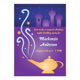 Arabian Nights 2 Magic Lamp Invitations