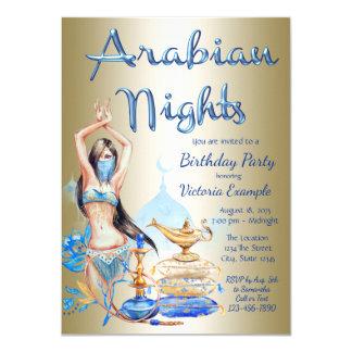 Arabian Nights Birthday Party Event Invitations