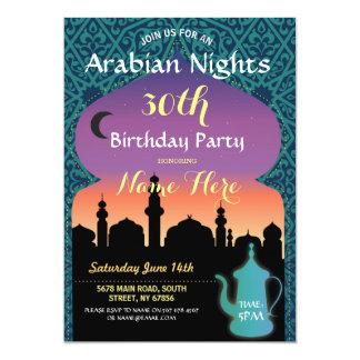 Arabian Nights Birthday Party Jewel Henna Invite
