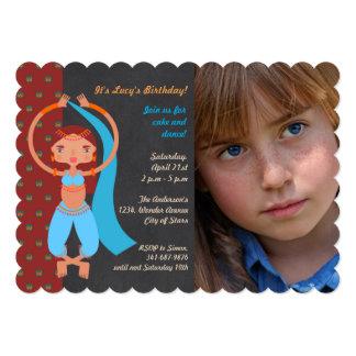 Arabian nights Birthday Party photo invitation