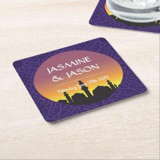 Arabian Nights Coasters Purple Mats Wedding Party