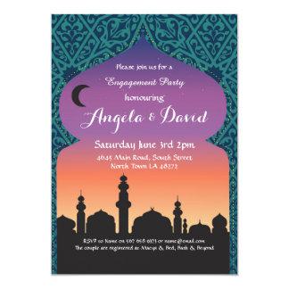 Arabian Nights Engagement Wedding Teal Invites