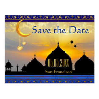 Arabian Nights Fairy Tale Save the Date Postcard