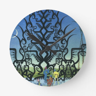 Arabian Nights Illustrative Clock