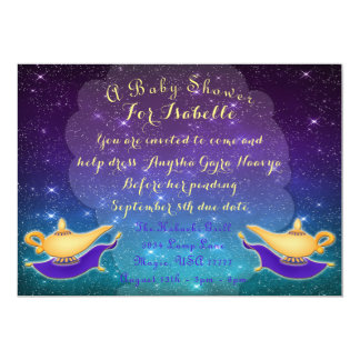 Arabian Nights Magic Lamp and Flying Carpet Invite