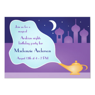 Arabian Nights Magic Lamp Birthday Party Card
