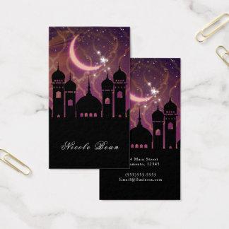 Arabian Nights Moroccan Middle Eastern Purple Pink Business Card