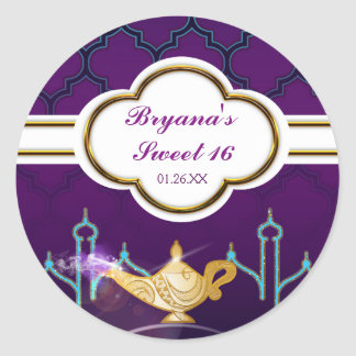 Arabian Nights Moroccan Party Favor Stickers