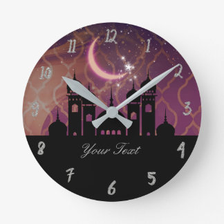 Arabian Nights Moroccan Personalized Round Clock