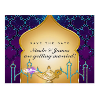 Arabian Nights Moroccan Save The Date Postcard