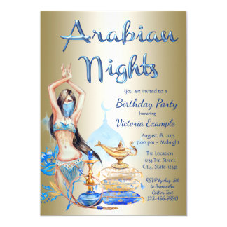 Arabian Nights Party Invitations