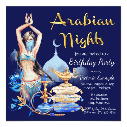 Arabian Nights Party Invitations Zazzlecomau