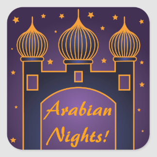 Arabian Nights Party Stickers 3