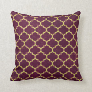 Arabian Nights Plum Lattice Throw Pillow