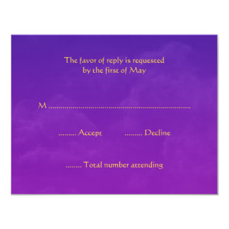 Arabian Nights RSVP Response Cards