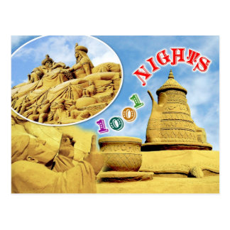 Arabian Nights sand sculpture, Belgium Postcard