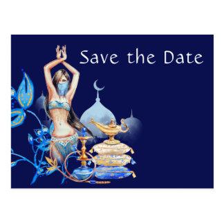 Arabian Nights Save The Date Postcards