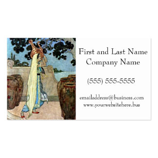 Arabian Nights Woman at the Well Illustration Pack Of Standard Business Cards