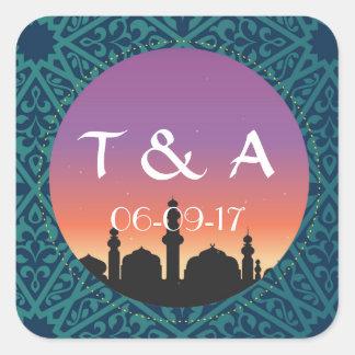 Arabian Stickers Bright Morroccan Square Favours