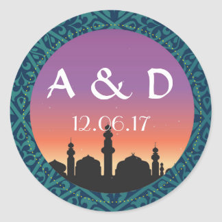 ArabianNights Stickers Wedding Round Label