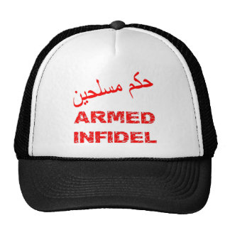 Arabic Armed Infidel Mesh Hat