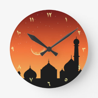 Arabic Evening Sky - Round Clock
