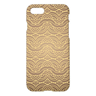 Arabic golden lace on brown iPhone 7 case