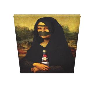Arabic Mona Lisa Canvas Print