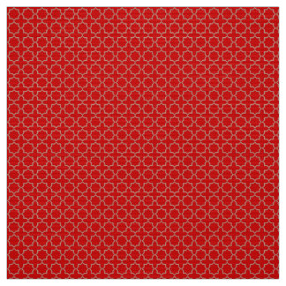 Arabic Moroccan Lattice in Venetian Red Fabric