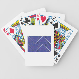 Arabic Ornaments blue. Original design Poker Deck