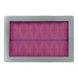 ARABICA Purple Ornaments. Luxury Products Rectangular Belt Buckle