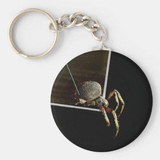 Arachnophobia Basic Round Button Key Ring