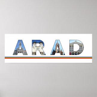 arad city romania landmark inside name symbol text poster
