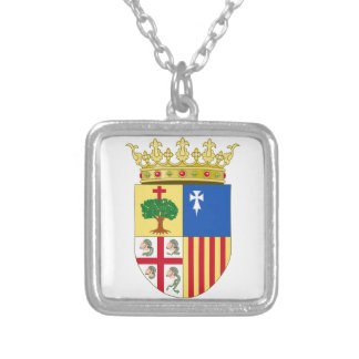 Aragon Coat of Arms (Spain) Silver Plated Necklace