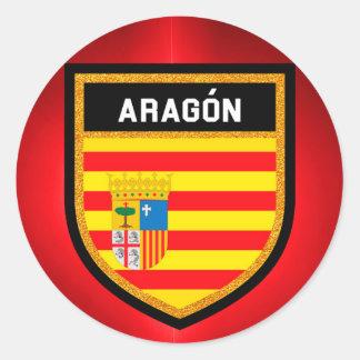 Aragón Flag Classic Round Sticker