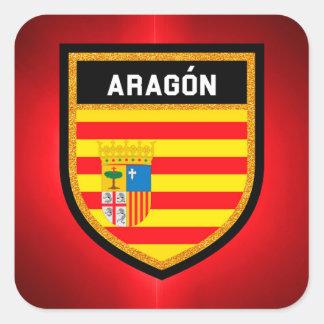 Aragón Flag Square Sticker