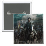 Aragorn Leading on Horse Pinback Buttons