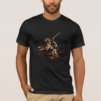 Aragorn Riding a Horse Vector Collage T-Shirt