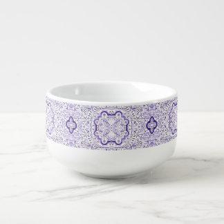 Arbella Purple Pattern Watercolour Soup Mug