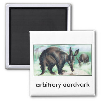arbitrary aardvark square magnet