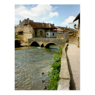 Arbois, bridge over the river postcard