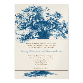 "Arbor Banner Wedding Invitation 5"" X 7"" Invitation Card"