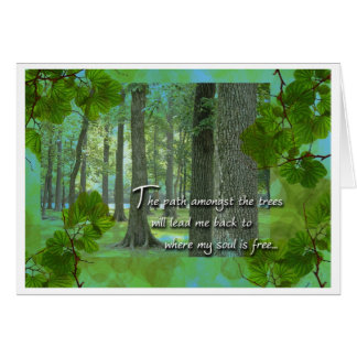 Arbor Day Illinois Woods Card
