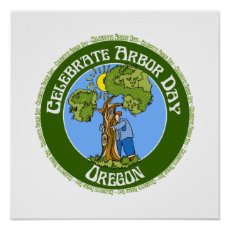 Arbor Day Oregon Poster