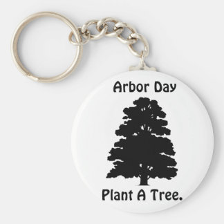 Arbor Day;Plant A tree Basic Round Button Key Ring
